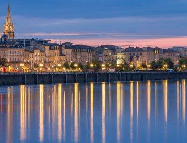 Evening view of Bordeaux